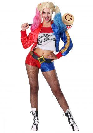 Fantasia feminina do Esquadrão Suicida Harley Quinn – Deluxe Suicide Squad Harley Quinn Women's Costume