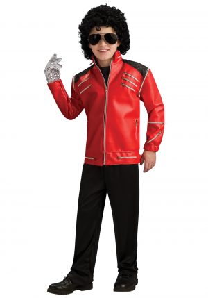 Fantasia infantil Michael Jackson -Child Beat It Michael Jackson Jacket Costume