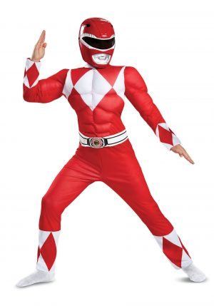 Fantasia infantil  de Power Rangers , Ranger Vermelho- Boys Red Ranger Power Rangers Costume