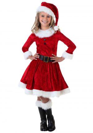 Fantasia infantil mamãe Noel- Girl Mrs. Claus Costume