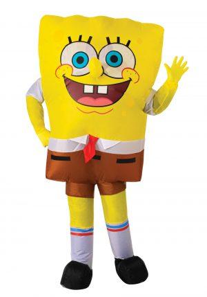 Fantasia inflável do Bob Esponja Calça Quadrada- SpongeBob SquarePants Inflatable Costume for Adults