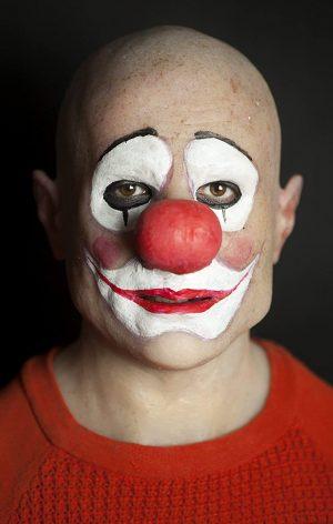 Máscara de Silicone Realista Palhaço Palha Luxo Clown Ron