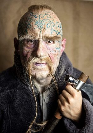 "Máscara de silicone ""Viking Jarl"" realista feita à mão"