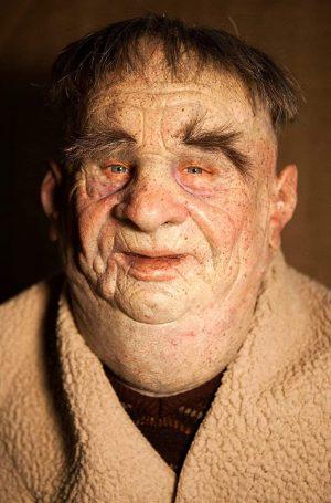 "Máscara de silicone feita à mão realista Old Man ""Friar Tuck"" por The Masker,"