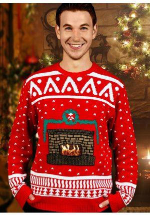 Suéter de natal lareira