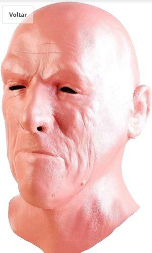 Máscara realista de  homem velho feito com Látex para Halloween