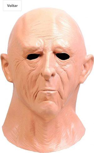 Máscara realista de Latex para Halloween com rugas humanas