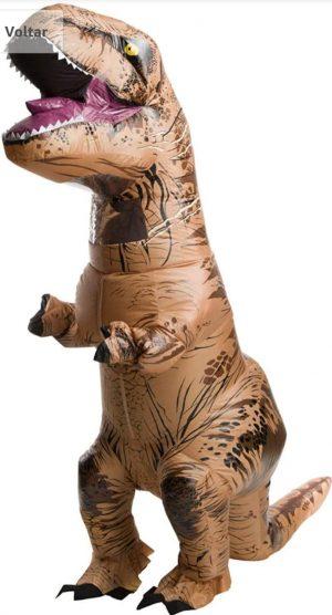 Fantasia Inflável adulto oficial do Jurassic World de Rubie