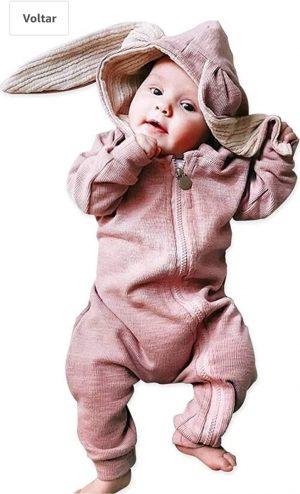 Macacão para bebe de coelhinho
