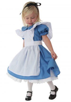 fantasia infantil Alice no pais das maravilhas-Deluxe Toddler Alice Costume