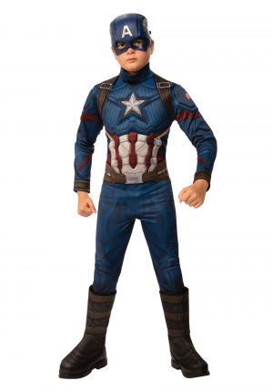 fantasia infantil Capitão América  – Deluxe Avengers: Endgame Boys Captain America Costume