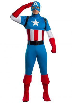 Fantasia Premium Adulto Capitão América –  Marvel Adult Captain America Premium Costume