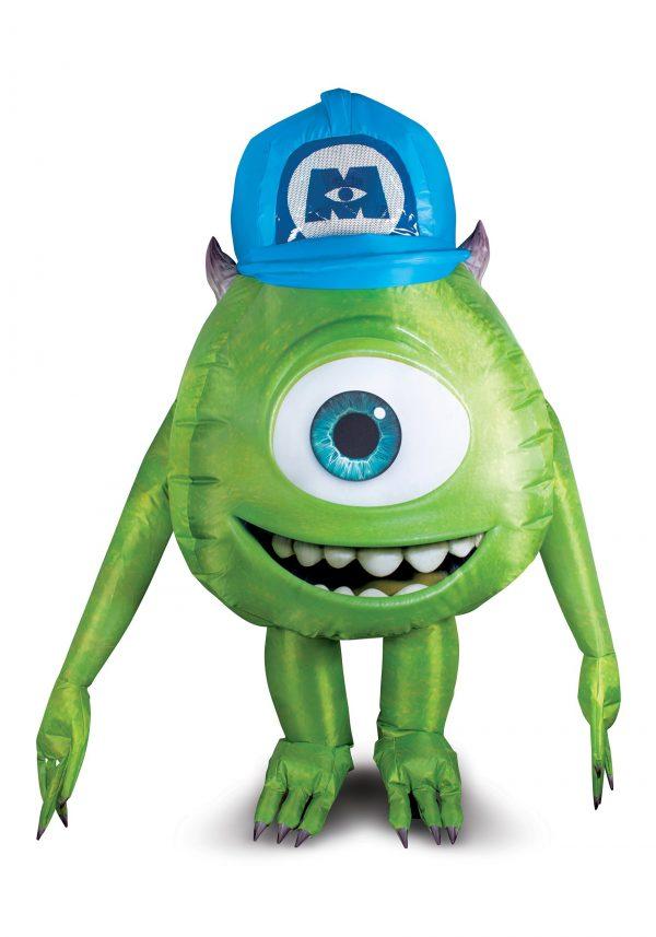 Fantasia inflável de Mike Wazowski da Monstros S.A- Monsters Inc Mike Wazowski Inflatable Costume