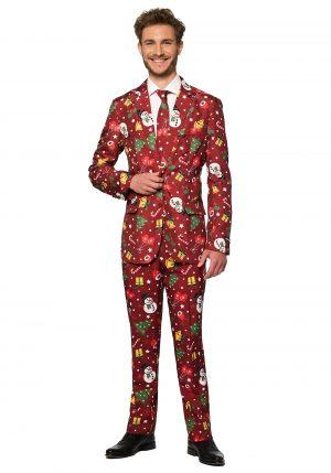 Terno masculino vermelho de Natal boneco de neve – Men's OppoSuits Red Christmas Costume Suit