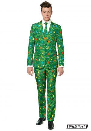Terno masculino verde árvore de Natal – Green Christmas Tree Men's Suitmeister Suit