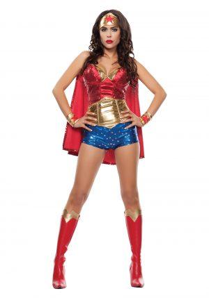 Fantasia feminina de Adulto Mulher Maravilha – Women's Wonder Lady Costume