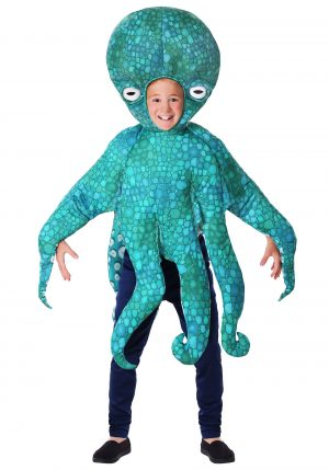 A fantasia de polvo azul infantil – The Child Blue Octopus Costume