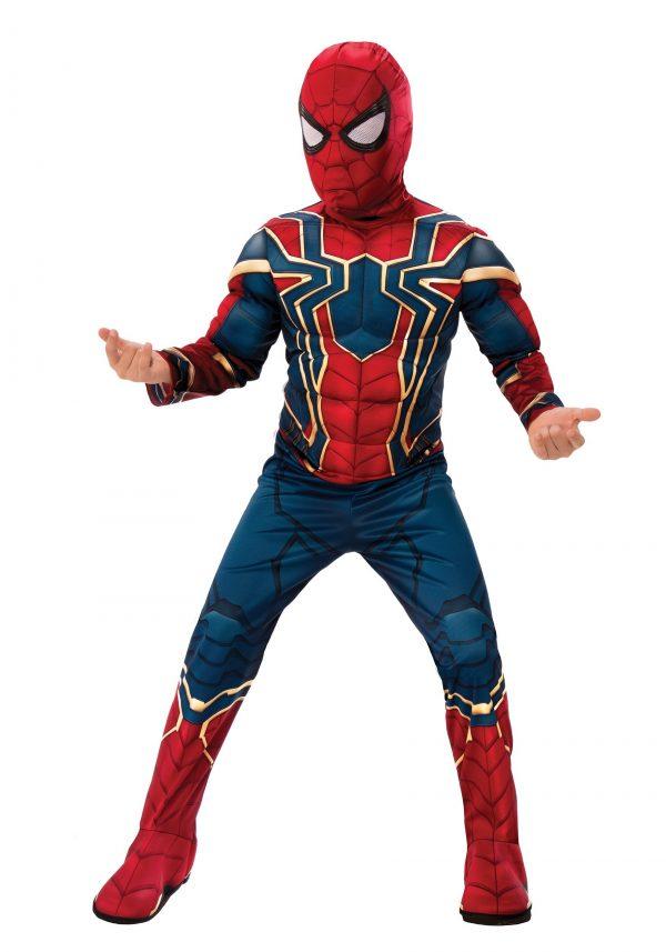 Fantasia Homem Aranha Spider Man – Marvel Infinity War Deluxe Iron Spider Kid's Costume