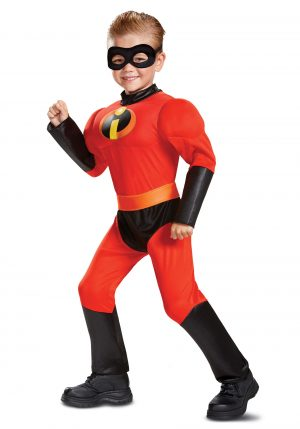 Fantasia Infantil  Disney Os Incríveis -Disney Incredibles Classic Dash Muscle Toddler Costume