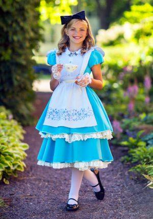 Fantasia Premium Alice no país das maravilhas – Premium Realistic Girls Alice Costume