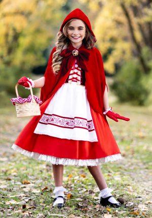 Fantasia Premium Chapeuzinho vermelho -Premium Realistic Girls Red Riding Hood Costume