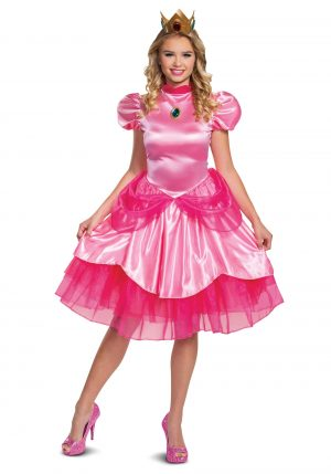 Fantasia Super Mario  Princesa Pêssego – Super Mario Princess Peach Costume for Women