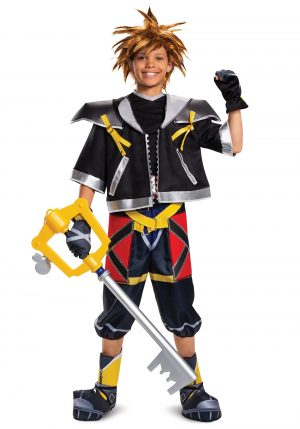 Fantasia adolescente Sora Kingdom Hearts – Kingdom Hearts Sora Deluxe Teen Costume