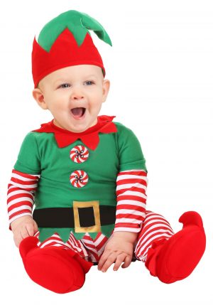Fantasia bebe de duende de Natal – Christmas Elf Infant Costume