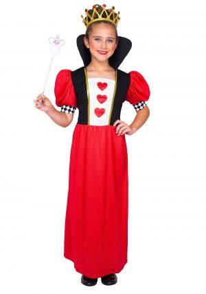 Fantasia da rainha de copas -Girl's Fairytale Queen of Hearts Costume
