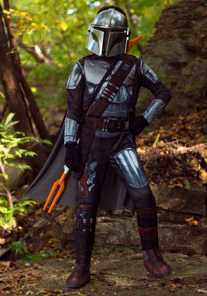 Fantasia de Armadura Star Wars Beskar infantil -Kids Mandalorian Beskar Armor Costume