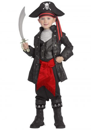 Fantasia de Capitão Infantil Pirata Negro – Kid's Captain Black Pirate Costume