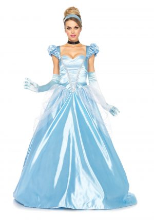Fantasia  de Cinderela -Cinderella Costume: Classic Full Length Gown