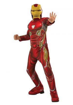 Fantasia de Homem de Ferro para Crianças – Marvel Infinity War Deluxe Iron Man Costume for Children