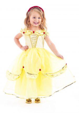 Fantasia de Princesa para crianças – Yellow Beauty Costume For Girls
