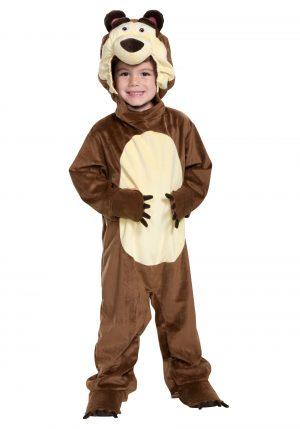 Fantasia de Urso da Marsha -Boy's Masha & The Bear The Bear Costume