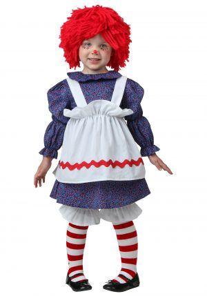 Fantasia de boneca de pano infantil – Toddler Little Rag Doll Costume