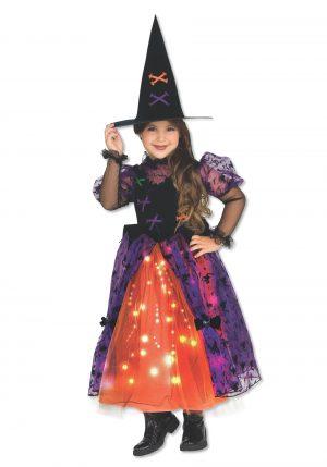 Fantasia de bruxinha brilhante – Girls Sparkle Witch Costume