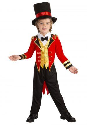 Fantasia de diretor de circo para meninos – Toddler Boys Circus Leader Ringmaster Costume