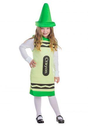 Fantasia de giz de cera verde para crianças – Toddlers Green Crayon Costume