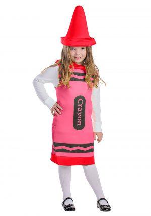 Fantasia  de giz de cera vermelho -Toddlers Red Crayon Costume