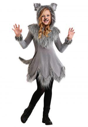 Fantasia de lobo feminino -Girl's Wolf Costume