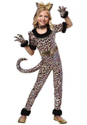 Fantasia de macacão feminino de leopardo – Girl's Leopard Jumpsuit Costume