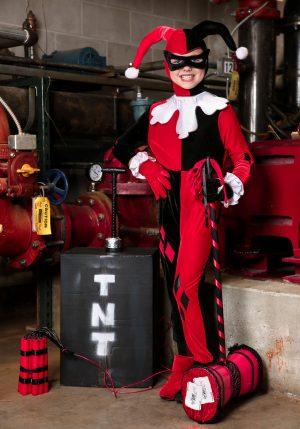 Fantasia de macacão infantil Harley Quinn -Child's Harley Quinn Jumpsuit Costume