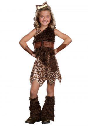 Fantasia de mulher das caverna para crianças – Kids Cave Girl Cutie Costume