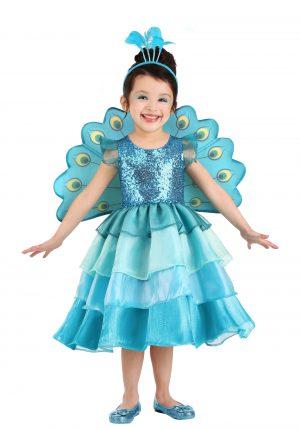 Fantasia de pavão para Meninas – Pretty Peacock Costume for Toddlers