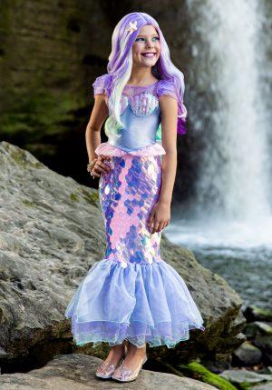Fantasia de sereia para meninas – Girls Sparkling Mermaid Costume
