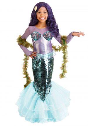 Fantasia de sereia roxa para menina – Girl's Pretty Purple Mermaid Costume