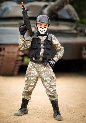 Fantasia de soldado infantil – Child Battle Soldier Costume