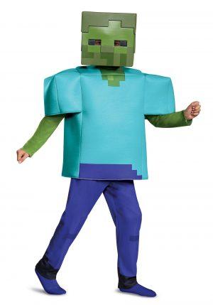 Fantasia de zumbi  Minecraft para crianças – Minecraft Deluxe Zombie Costume for Kids