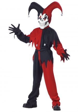 Fantasia do bobo do Mal -Kids Evil Jester Costume